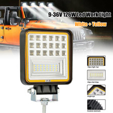 126W Led Tractor Truck Excavator Square Roof Light Off-Road Work Light Headlight(Fits: Ford)