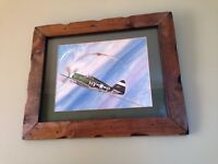 Mancave Vintage Robert E Carlin WW2 Aviation Book Art Print Captain Bob Johnson