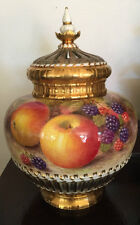 Royal Worcester Hand Painted Pot Pourri with Fruit Signed H Ayrton