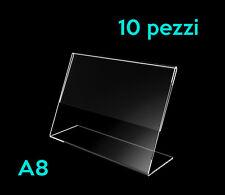 ARPEL Design - Espositore porta prezzi informazioni A8 in plexiglass 10 pezzi