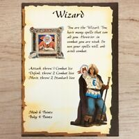 WIZARD CHARACTER CARD - HEROQUEST 1989 EDITION