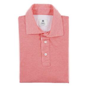 Borrelli Napoli Pink Pique Knit Cotton Polo Shirt M (Eu 50) NWT $350