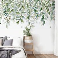 UK_ CC_ IC- DI- 2Pcs Plant Leaf Twig Berry Home Wall Sticker Living Room Decal D