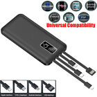 900000 mAh 4 USB Backup External Battery Power Bank Pack Charger For Cell Phone