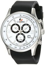 CALIBRE Men's SC-4M1-04-001 Mauler Stainless Steel Chronograph White Dial Watch