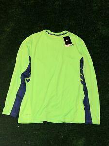 Men's New Nike Dri Fit Running Shirt Size Large - Long Sleeves - NWT