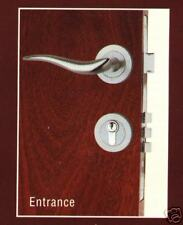 Forged  Brass Entrance  Lock & Handle ( Satin Chrome )