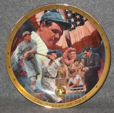 """Babe Ruth  Royal Doulton """"The Legendary Babe Ruth"""" Plate"""