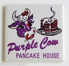 Purple Cow Pancakes FRIDGE MAGNET (2 x 2 inches) restaurant house sign