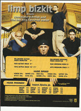 LIMP BIZKIT TRADE AD POSTER for Chocolate starfish and Hot Dog CD 2000 MINT