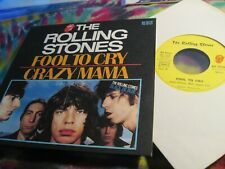 """ROLLING STONES - FOOL TO CRY / CRAZY MAMA - FRENCH 7"""" 45 -------- K @ @ L"""