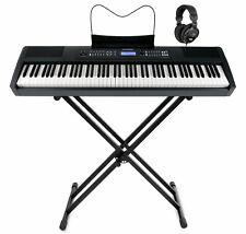 Digital Stage Piano 88 Keys Weighted Hammer Mechanics MIDI USB X-Stand Headset