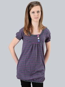 Ragwear Shortsleeve Top Linny, Midnight Stripes, Größen: XS - XL