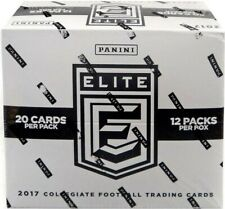 2017 PANINI ELITE DRAFT PICKS COLLEGIATE  FOOTBALL FAT PACK CELLO BOX NEW SEALED