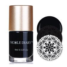 9ml Schwarz Stempellack Nagel Stamping Lack Stamping Nail Polish NICOLE DIARY