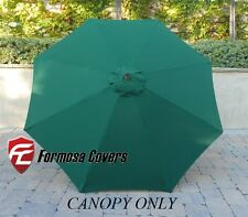 9ft Umbrella Replacement Canopy 8 Ribs in Hunter Green (Canopy Only)