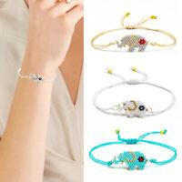 women Lovely Elephant Seed Beads Bracelet Adjustable Bangle BraceletsJewelry new