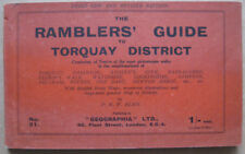 Ramblers Guide to TORQUAY & District c1930s 64 Pages + Fold Out Map