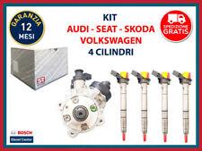 Iniettori 0445116030 e Pompa CP4 0445010507 BOSCH AUDI VW SEAT SKODA RV