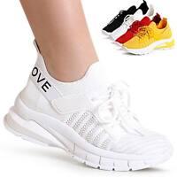 Damen Plateau Sneaker Turnschuhe Halbschuhe Leicht & Bequem Fitness