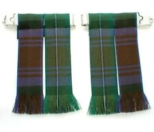 TARTAN KILT FLASHES ISLE OF SKYE FRINGED WORSTED WOOL SOCK HOSE MADE IN SCOTLAND