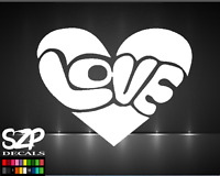 Love DECAL, Heart Sticker Color and Size Cool Window Bumper