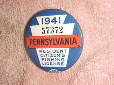 Mint 1941 Penna Fishing License - Collector Grade - 57372