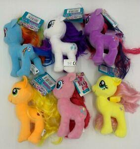 "My Little Pony Plush Soft Figure Teddy 7"" MLP Brand New Rarity Applejack Pinkie"