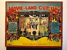vintage 1930 puzzle MOVIE-LAND CUT UPS Wilder Mfg. OLD GAME great graphic box!