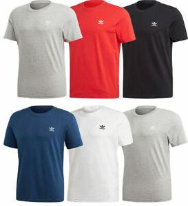 Mens Adidas T-Shirt Trefoil Essentials Cotton T-Shirt Crew Tops Jersey FM9962