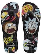 Havaianas Top Rick Morty Flip Flop Rubber Sandal Black Size UK 3 - 12