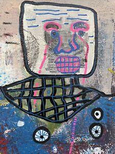 Hasworld Original,painting,signed,Pop Art,Like Kaws,abstract Graffiti,Alien