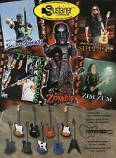 1999 VINTAGE 8X11 Print Ad for FERNANDES Sustainer Guitars Sepultura, Rob Zombie