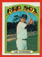 1972 Topps #37 Carl Yastrzemski EX-EX+ HOF Boston Red Sox Free Shipping