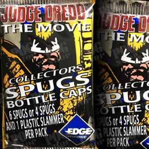 POGS 1995 Sealed Foil Pack JUDGE DREDD THE MOVIE Spugs Bottle Caps - POG SHOP
