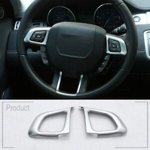 ABS Chrome Steering Wheel Cover Trim For LR Range Rover Evoque 2012-2018