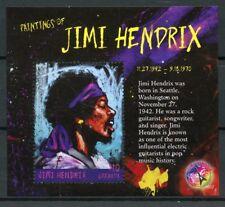 Grenade 2016 neuf sans charnière peintures de jimi hendrix 1v s/s rock stars célébrités timbres