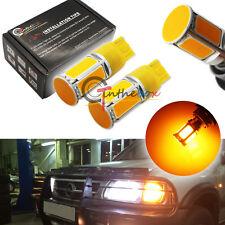 2PCS Amber No Resistor Required 7440 COB LED Front Rear Turn Signal Lights Bulbs