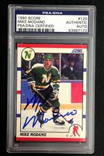 MIKE MODANO SIGNED 1990 SCORE ROOKIE CARD #173 PSA/DNA Auto RC STARS
