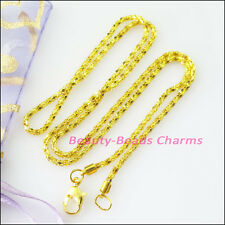 4Strands Necklaces Chain With Lobster Clasps Gold Plated 42cm