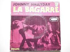 Johnny Hallyday 45Tours EP vinyle La Bagarre papier