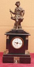 ancienne magnifique petite pendule XIX EME homme forgeron sur marbre