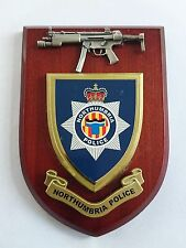 Northumbria Police Force with Pewter MP5 Military Wall Plaque