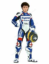 "GUY MARTIN DIGITALLY CUT OUT VINYL STICKER. 3.5"" X 8"" OVERALL SIZE"