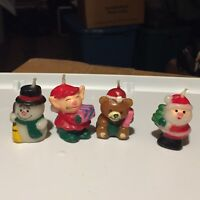 Set Of Four Miniture Christmas Candles