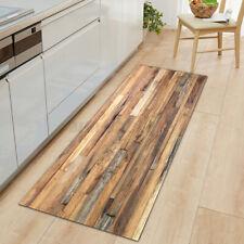 Wood Grain Rectangle Area Rug Kitchen Floor Mat Living Room Door Rugs