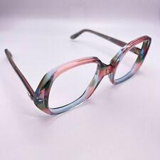 Vtg Forecast frames eyeglasses round tortoise red blue julie 50-20 130 80s 90s