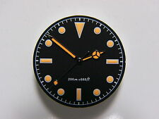 Milsub Dail And Hands For ETA-2824 Applied With Vintage Orange Superluminova