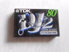 TDK DJ2 80 Disc Jack Sealed Cassette Audio Sigillata Sealed Blank Vintage NUOVA