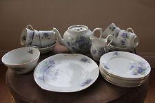 "VICTORIA CHINA  ""PERFECTA""  TEA SET - 22 pieces - Czechosolvakia  - 1930's"